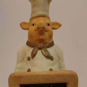 Chef Pig With Chalk Board